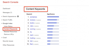 content-keywords - Google update for SEO